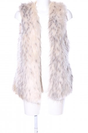Zara Basic Fur vest cream-light grey elegant