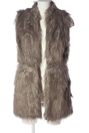 Zara Basic Smanicato di pelliccia crema