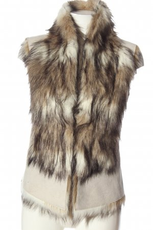 Zara Basic Fur vest natural white casual look