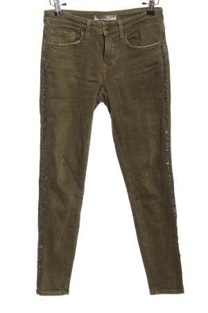 Zara Basic Spodnie z pięcioma kieszeniami khaki W stylu casual