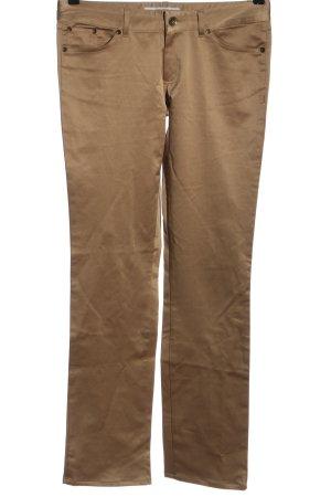 Zara Basic Spodnie z pięcioma kieszeniami brąz W stylu casual