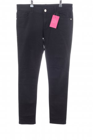 Zara Basic Five-Pocket-Hose schwarz Casual-Look