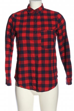 Zara Basic Flannel Shirt red-blue allover print casual look