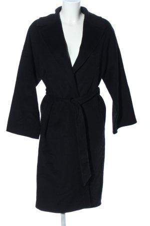 Zara Basic Płaszcz polarowy czarny W stylu casual