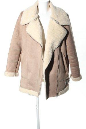 Zara Basic Veste d'aviateur rose chair style décontracté