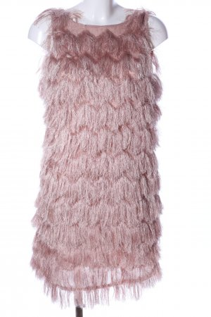 Zara Basic Fringed Dress nude elegant