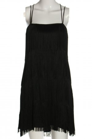 Zara Basic Fringed Dress black elegant