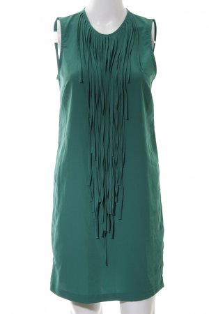 Zara Basic Fringed Dress green elegant