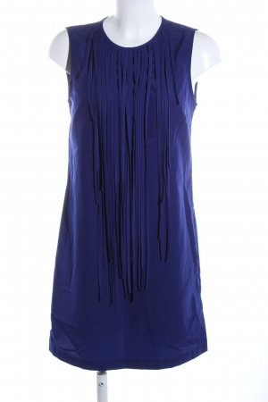 Zara Basic Fransenkleid blau Business-Look