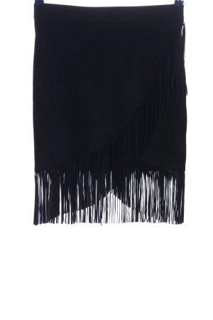 Zara Basic Jupe à franges noir style décontracté