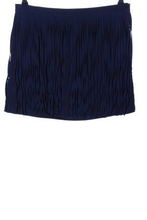 Zara Basic Jupe à franges bleu style décontracté