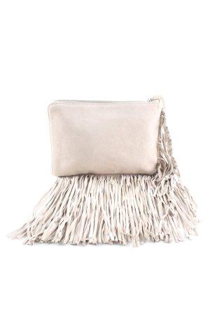 Zara Basic Sac à franges crème style décontracté