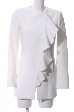 Zara Basic Frock Coat white elegant
