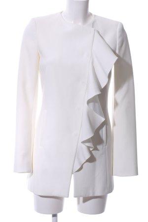 Zara Basic Redingote bianco elegante