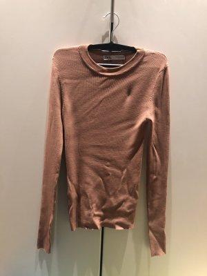 Zara Basic Sweatshirt beige-chameau