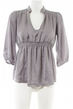 Zara Basic Blouse brillante gris clair style d'affaires