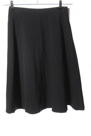 Zara Basic Glockenrock schwarz Casual-Look
