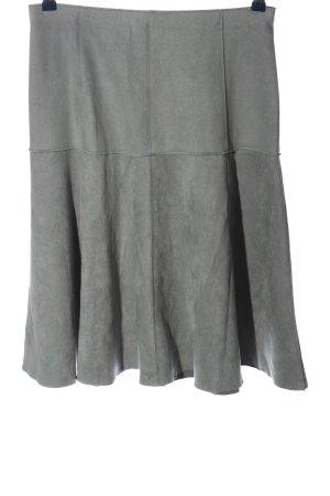 Zara Basic Glockenrock hellgrau meliert Casual-Look