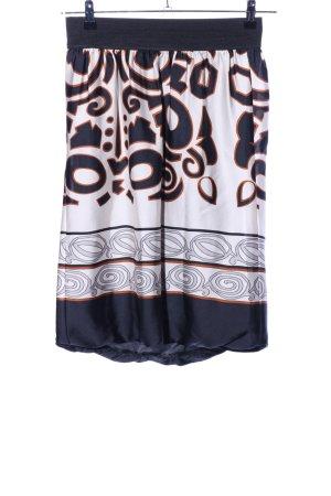 Zara Basic Falda acampanada estampado con diseño abstracto look casual