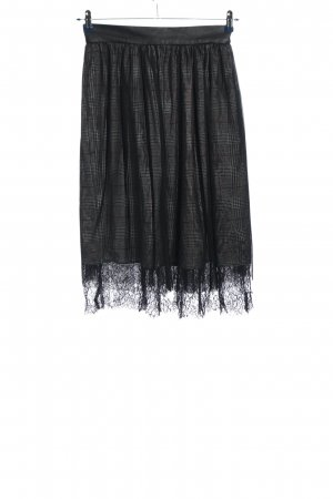 Zara Basic Glockenrock schwarz-weiß Karomuster Casual-Look