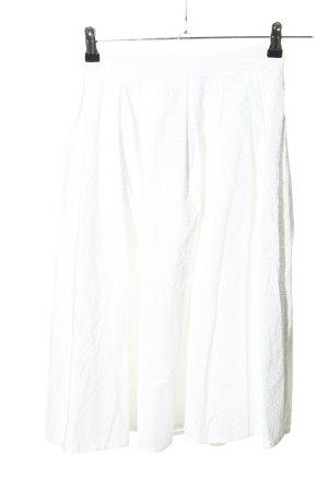 Zara Basic Glockenrock weiß Casual-Look