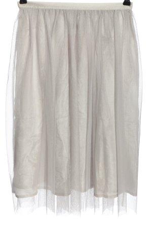 Zara Basic Glockenrock hellgrau Elegant