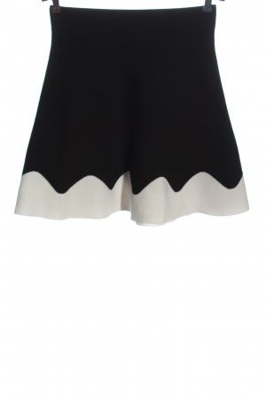 Zara Basic Glockenrock schwarz-weiß Casual-Look