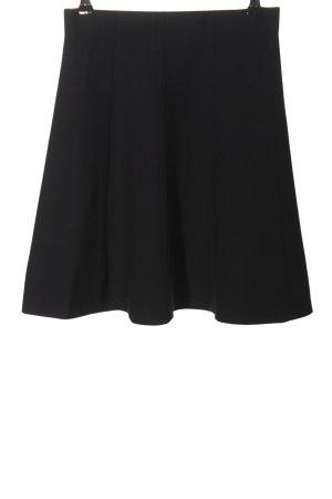 Zara Basic Glockenrock schwarz-silberfarben meliert Casual-Look