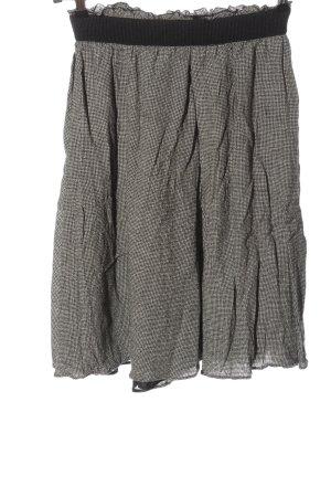 Zara Basic Glockenrock weiß-schwarz Allover-Druck Casual-Look