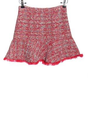Zara Basic Klokrok rood-lichtgrijs gestreept patroon elegant