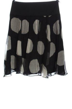 Zara Basic Glockenrock schwarz-hellgrau Punktemuster Elegant