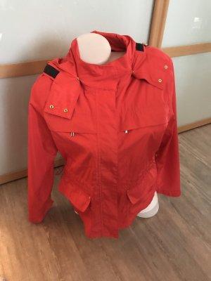 Zara Basic Gr.L Jacke Übergang Herbst rot Damen 40 42 Gold