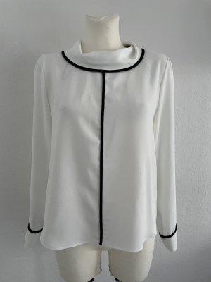 Zara Basic gr M weiß schwarz kragen