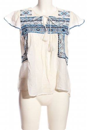 Zara Basic Gehaakt shirt geborduurde letters casual uitstraling