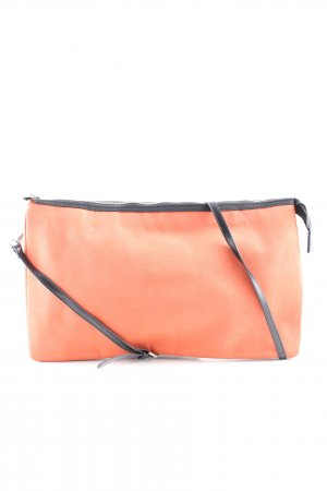Zara Basic Handtasche hellorange-schwarz Casual-Look
