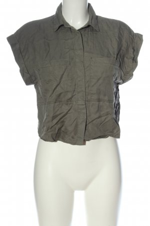 Zara Basic Hemd-Bluse khaki Casual-Look