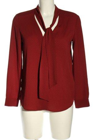 Zara Basic Hemd-Bluse rot-schwarz Punktemuster Business-Look
