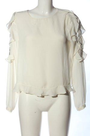 Zara Basic Hemd-Bluse wollweiß Business-Look