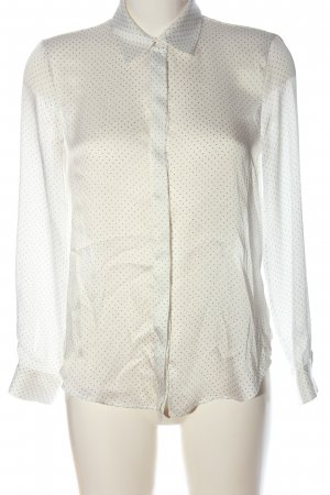 Zara Basic Hemd-Bluse wollweiß Punktemuster Business-Look