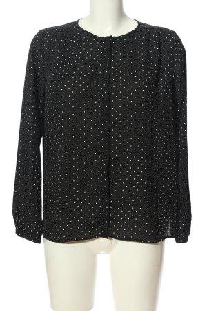 Zara Basic Hemd-Bluse schwarz-weiß Punktemuster Casual-Look