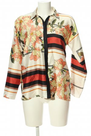 Zara Basic Hemd-Bluse Allover-Druck Casual-Look