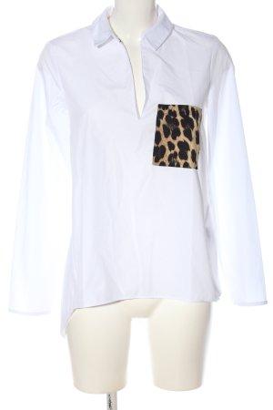 Zara Basic Hemd-Bluse Leomuster Casual-Look