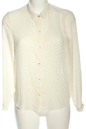 Zara Basic Hemd-Bluse creme Casual-Look