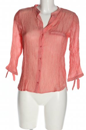 Zara Basic Hemd-Bluse rot-weiß Streifenmuster Casual-Look