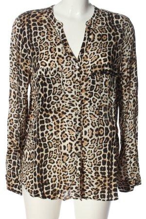 Zara Basic Hemd-Bluse Animalmuster Casual-Look