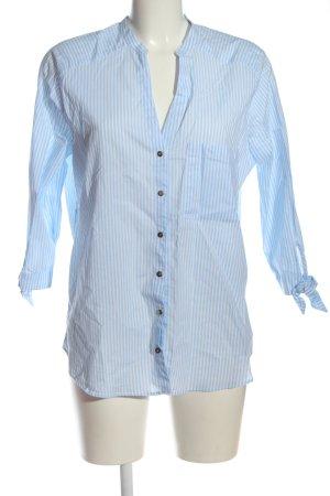 Zara Basic Hemd-Bluse blau-weiß Streifenmuster Casual-Look