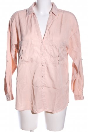 Zara Basic Hemd-Bluse pink Casual-Look