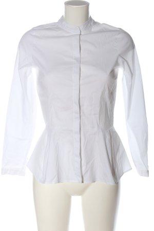 Zara Basic Hemd-Bluse weiß Business-Look