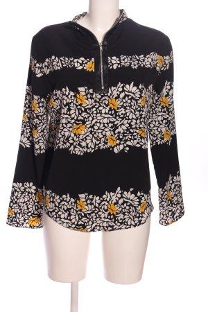 Zara Basic Hemd-Bluse Blumenmuster Business-Look