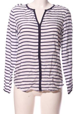 Zara Basic Hemd-Bluse weiß-hellgrau Allover-Druck Casual-Look